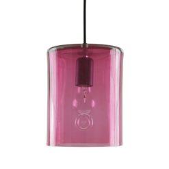 Lampa wisząca szklana NEO II różowa LGH0412
