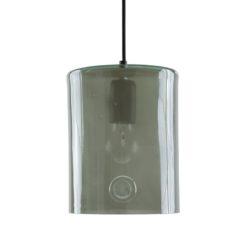 Lampa wisząca szklana NEO II szara LGH0413