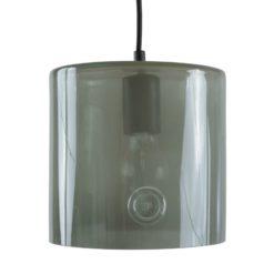 Lampa wisząca szklana NEO I szara LGH0423