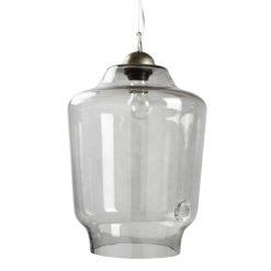 Lampa wisząca szklana BEE szara LGH0492