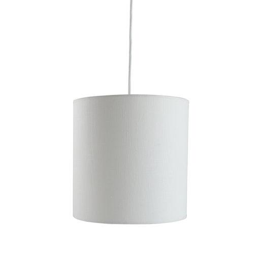 Lampa wisząca tekstylna PIANO I biała LGH0503