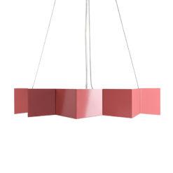 Lampa wisząca stalowa STAR różowa LGH0535