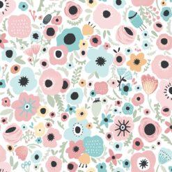 Tapeta Decor Maison Babette 3701-14 Floral Folklore Pink