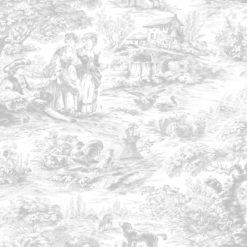 Tapeta Decor Maison Babette 3703-21 Toile de Jouy Grey