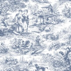 Tapeta Decor Maison Babette 3703-66 Toile de Jouy Blue