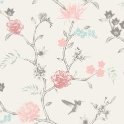 Tapeta Decor Maison Babette 3706-24 Flower Bird Pink