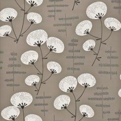 """Tapeta """"Kwiaty Bawełny"""" w kolorze brązowym"""