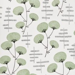 """Tapeta """"Kwiaty Bawełny"""" w kolorze jasnozielonym"""