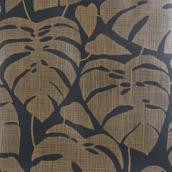 """Tapeta """"Tropikalne Liście"""" w kolorze brązowo-czarnym"""