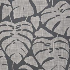"""Tapeta """"Tropikalne Liście"""" w kolorze grafitowym"""