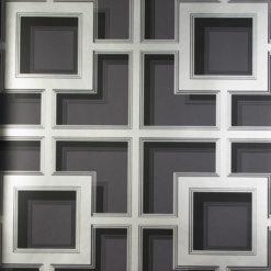 Tapeta Osobrne & Little Manarola Wallpapers W7216-03 Camporosso Black/Silver
