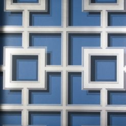 Tapeta Osobrne & Little Manarola Wallpapers W7216-07 Camporosso Blue/Gilver