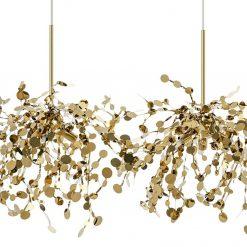Lampa wisząca MONETE złota - metal