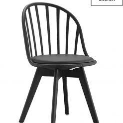 MODESTO krzesło ALBERT czarne - polipropylen