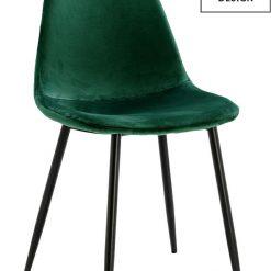 MODESTO krzesło LUCY zielone - welur
