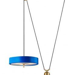 Lampa wisząca ARTE MOVE niebieska - aluminium