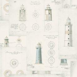 Tapeta Boras Tapeter Marstrand II 8867 Lighthouse