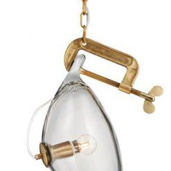 Lampa wisząca VICE mosiądz - metal