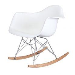 Fotel bujany VILD RAR biały - polipropylen