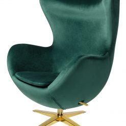 Fotel EGG SZEROKI VELVET GOLD ciemny zielony.18 - welur