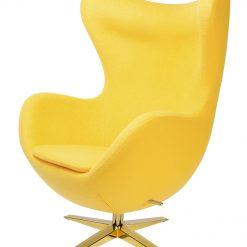 Fotel EGG SZEROKI GOLD żółty.5 - wełna
