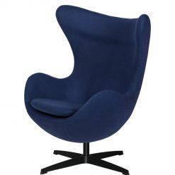 Fotel EGG CLASSIC BLACK atlantycki niebieski.26 - wełna