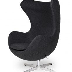 Fotel EGG CLASSIC ciemny szary.5 - wełna