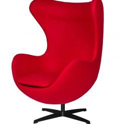 Fotel EGG CLASSIC BLACK czerwony.17 - wełna