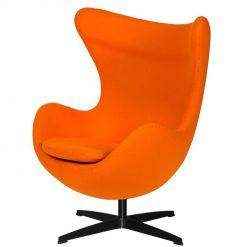 Fotel EGG CLASSIC BLACK marchewkowy.38 - wełna