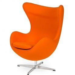 Fotel EGG CLASSIC marchewkowy.38 - wełna
