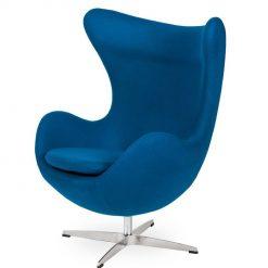Fotel EGG CLASSIC marynarski niebieski.35 - wełna