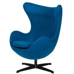 Fotel EGG CLASSIC BLACK marynarski niebieski.35 - wełna