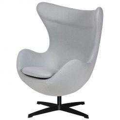 Fotel EGG CLASSIC BLACK szary  popielaty.18 - wełna