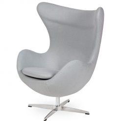 Fotel EGG CLASSIC szary popielaty.18 - wełna