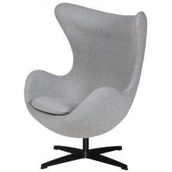 Fotel EGG CLASSIC BLACK szary melanż.17 - wełna