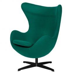 Fotel EGG CLASSIC BLACK szmaragdowy zielony.41 - wełna