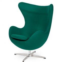 Fotel EGG CLASSIC szmaragdowy zielony.41 - wełna