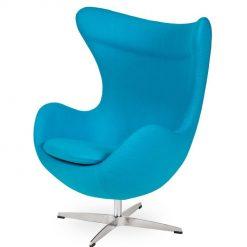 Fotel EGG CLASSIC jasny turkus.43 - wełna