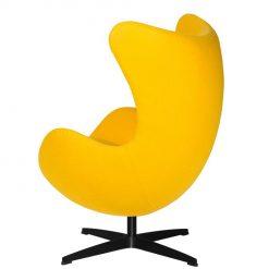 Fotel EGG CLASSIC BLACK żółty słoneczny.36 - wełna