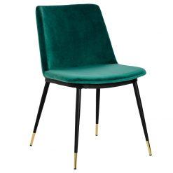 Krzesło DIEGO zielone - welur