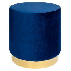 Pufa MARGO ciemny niebieski - welur