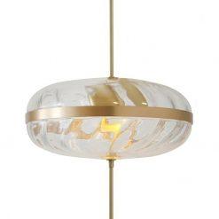 Lampa wisząca CHAPLIN 360 mosiądz - LED
