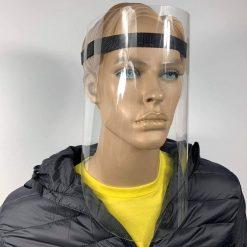 Przyłbica ochronna na twarz PET z taśmą plecioną