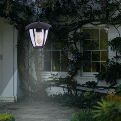 Lampa ogrodowa wisząca FOX BLACK 1xE27