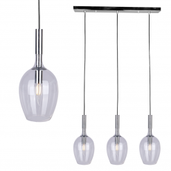 Lampa wisząca TANGO CLEAR 3xE14
