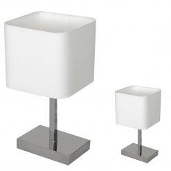 Lampka stołowa NAPOLI WHITE/CHROME 1xE27