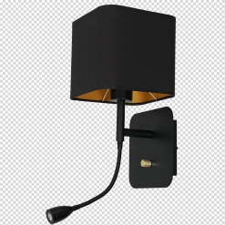 Kinkiet NAPOLI BLACK/GOLD 1xE27 + 1W LED
