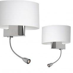 Kinkiet CASINO WHITE/CHROME 1xE27 + 1W LED