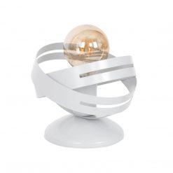 Lampa stołowa CORONA WHITE 1xE27