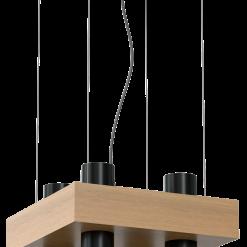 Lampa wiszaca WEST BLACK 4xGU10